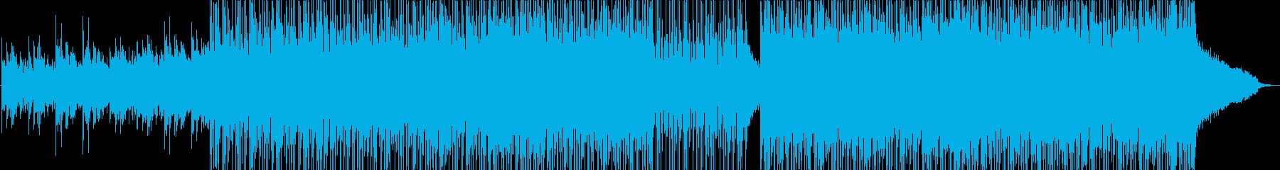 美しいシンセインディロックの再生済みの波形