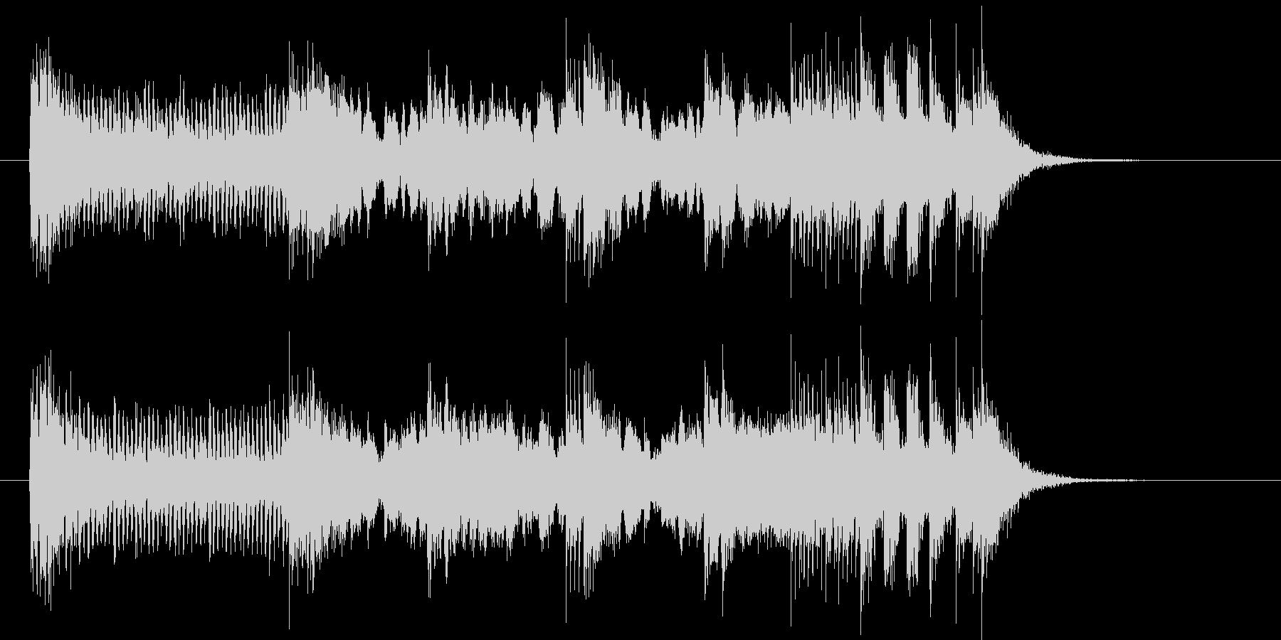 現代的なテクノとロックの融合の未再生の波形