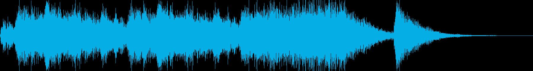 CM明けの明るいジングルの再生済みの波形