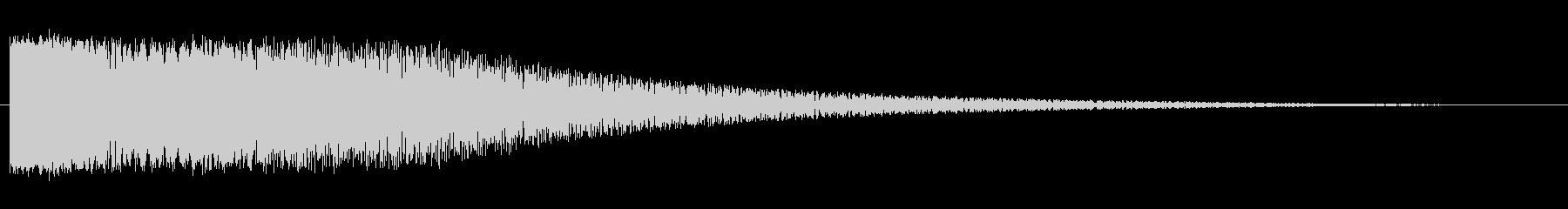 アニメなどに最適近未来的レーザービーム音の未再生の波形
