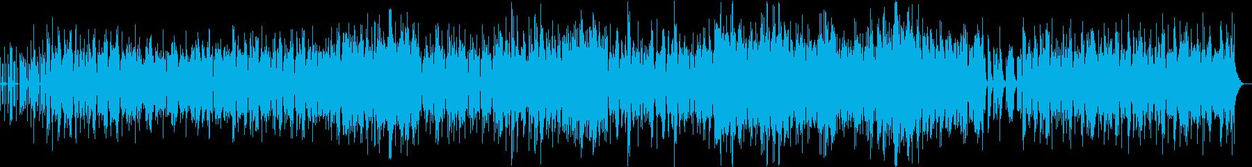幻想的でリズミカルな曲の再生済みの波形