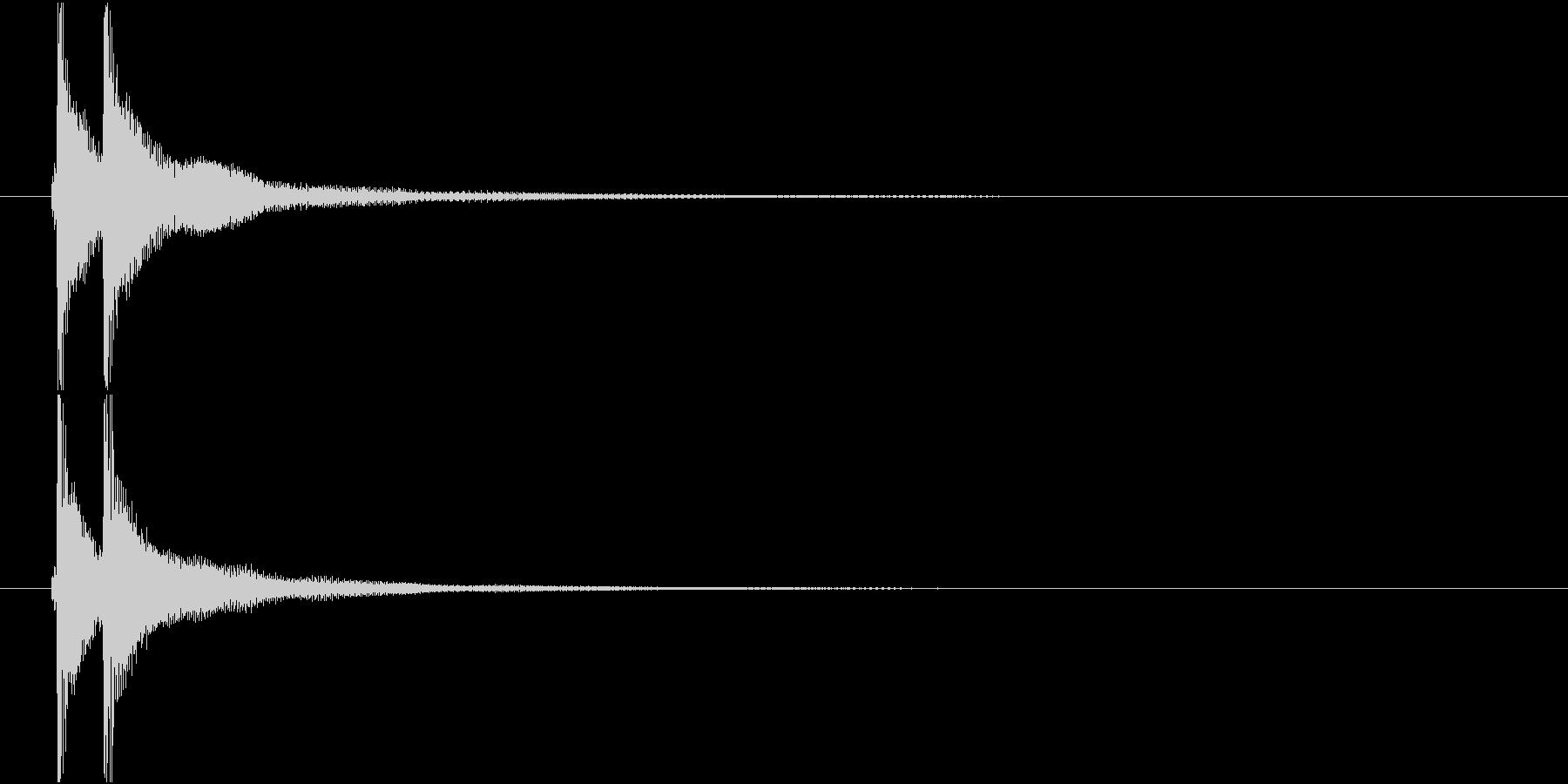 ベンベン (三味線)の未再生の波形