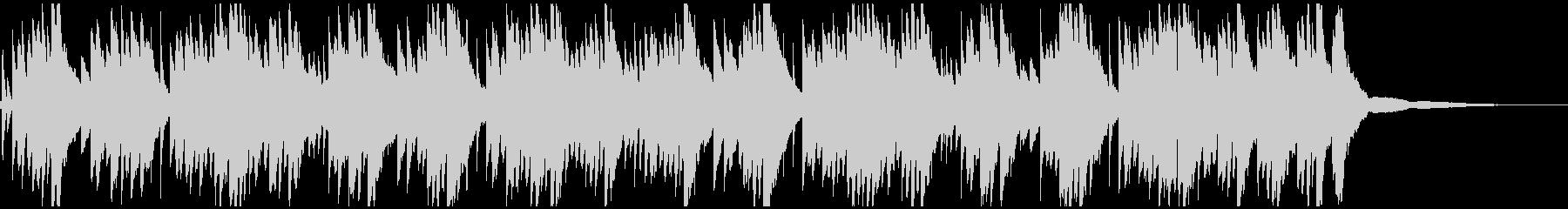 切ないメロディのピアノのソロの未再生の波形