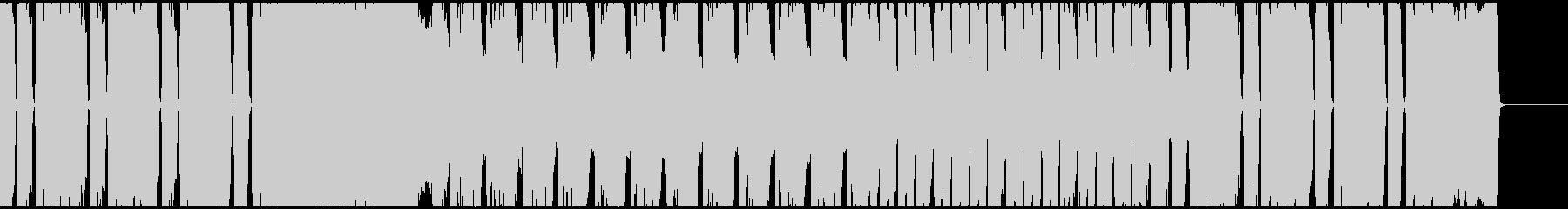 重厚なギターリフが印象的なメタル曲です。の未再生の波形