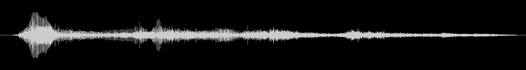 鳴き声 男性のうなり声03の未再生の波形