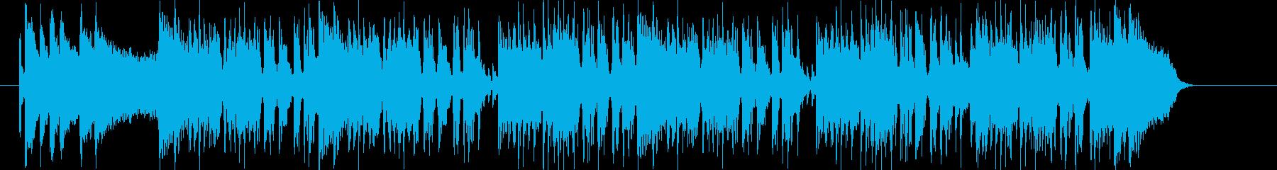 アップテンポなロックナンバーの再生済みの波形