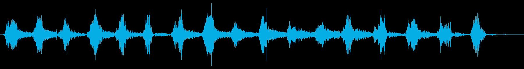 メタルリーフレーキの再生済みの波形