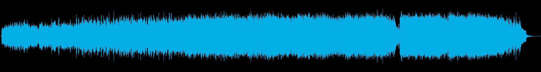 明るく雄大なシンセサイザーサウンドの再生済みの波形