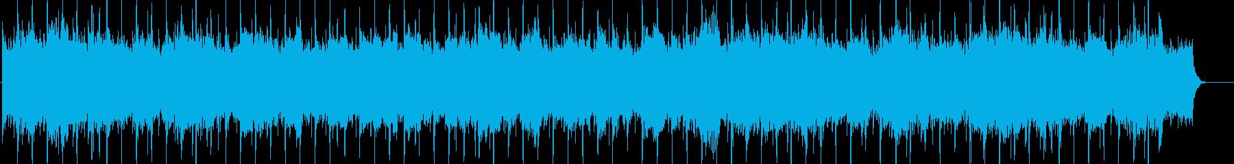 シンセボイス付きの荘厳な雰囲気のBGMの再生済みの波形
