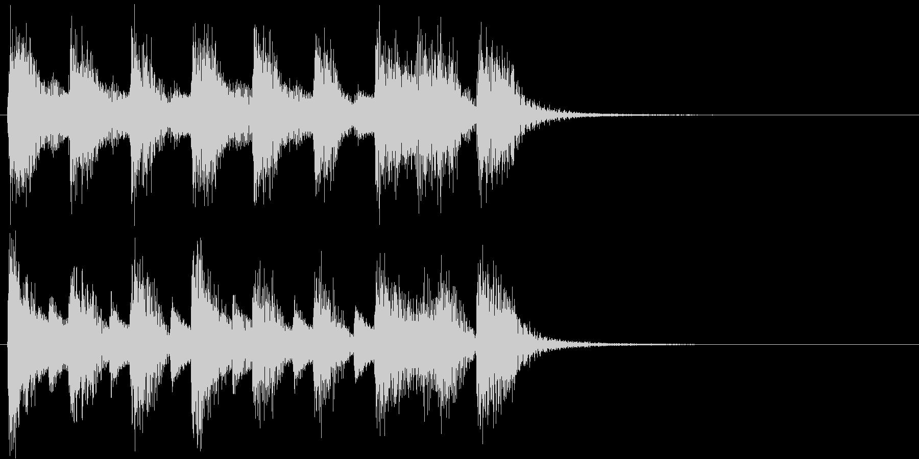 ジャジーでノリが良いピアノソロ ジングルの未再生の波形
