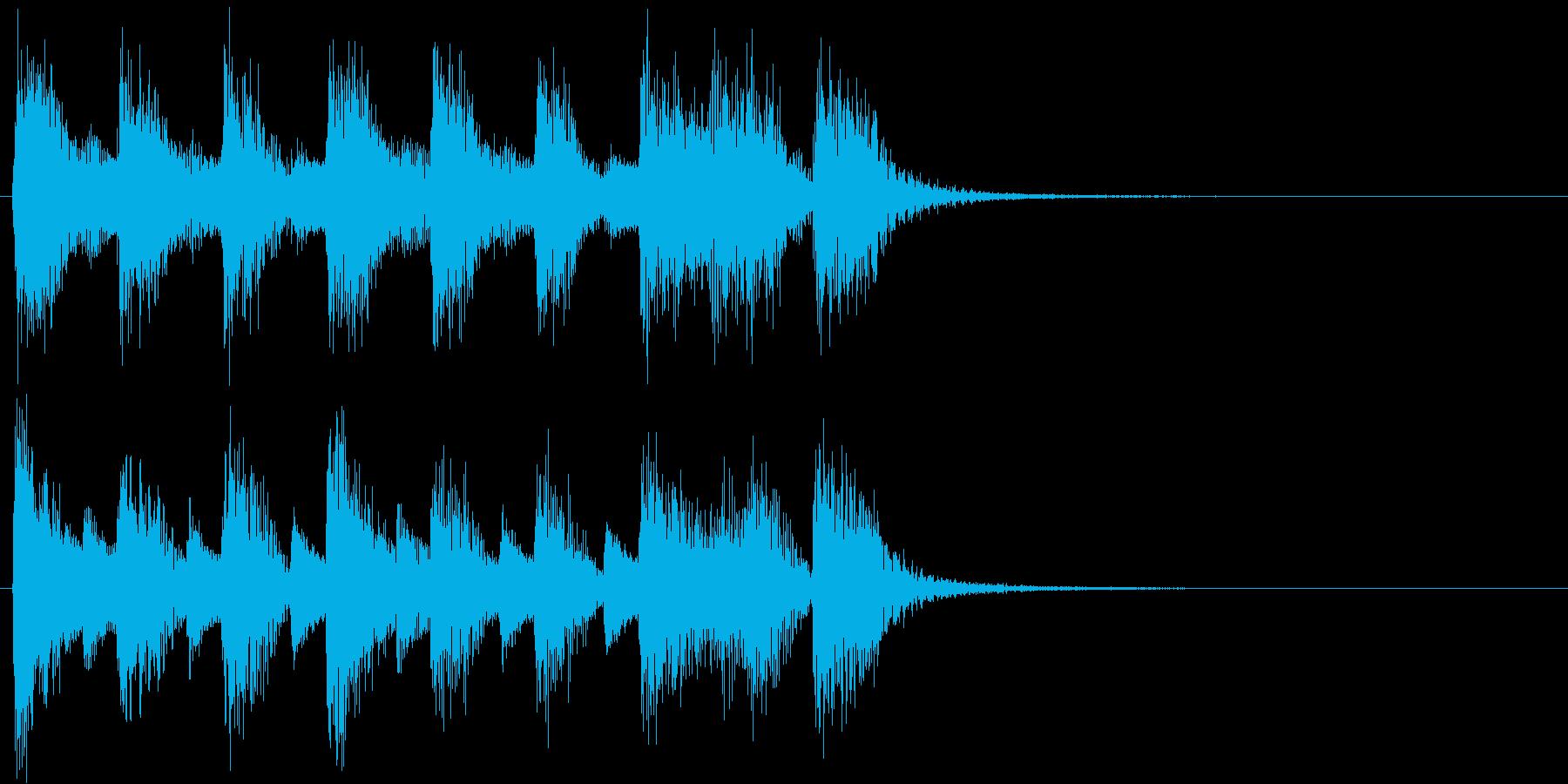ジャジーでノリが良いピアノソロ ジングルの再生済みの波形