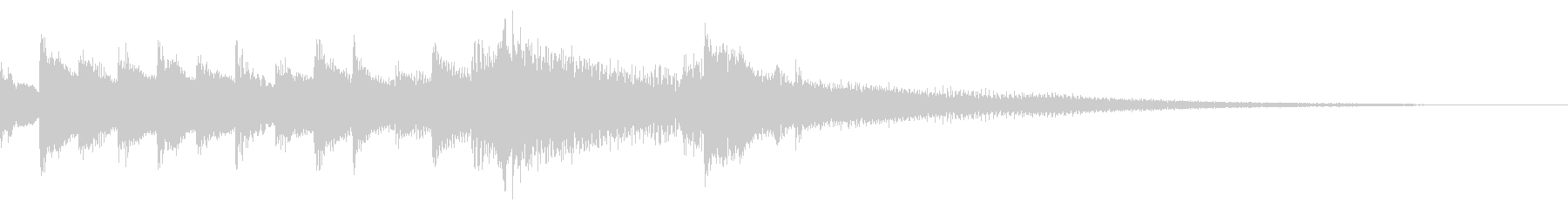 シンプルで少し幻想的なピアノジングルの未再生の波形