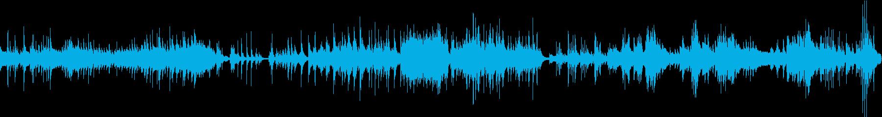 ドキュメントのような無機質即興ピア曲の再生済みの波形