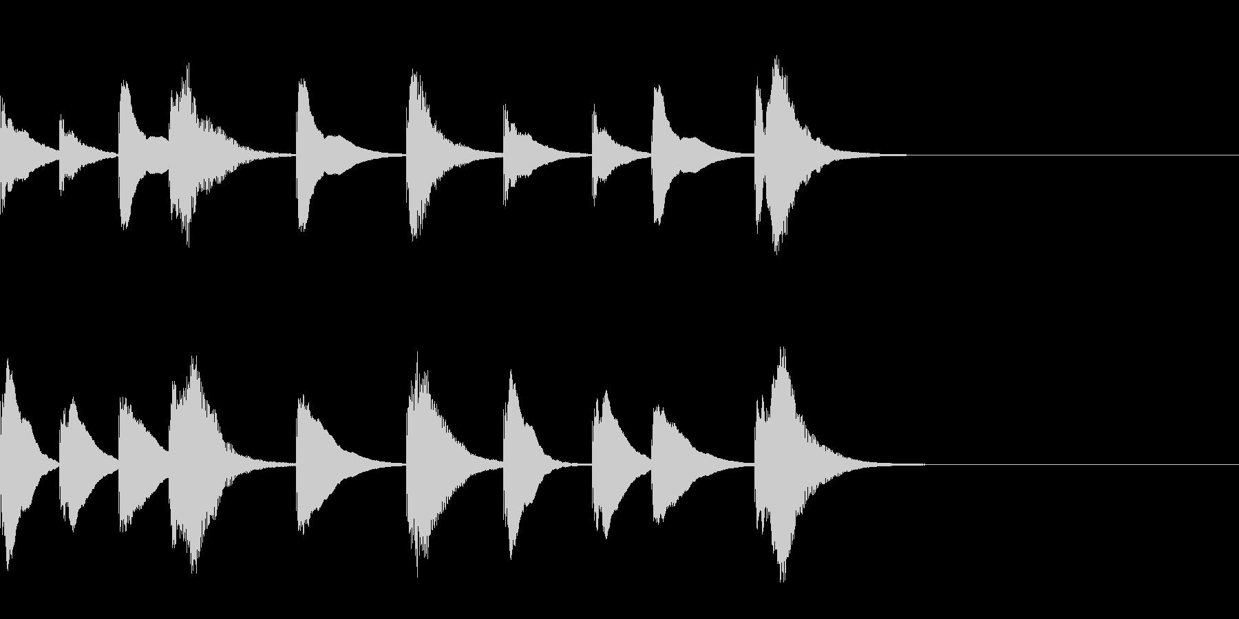 シロフォンの勇敢な5秒ジングルの未再生の波形