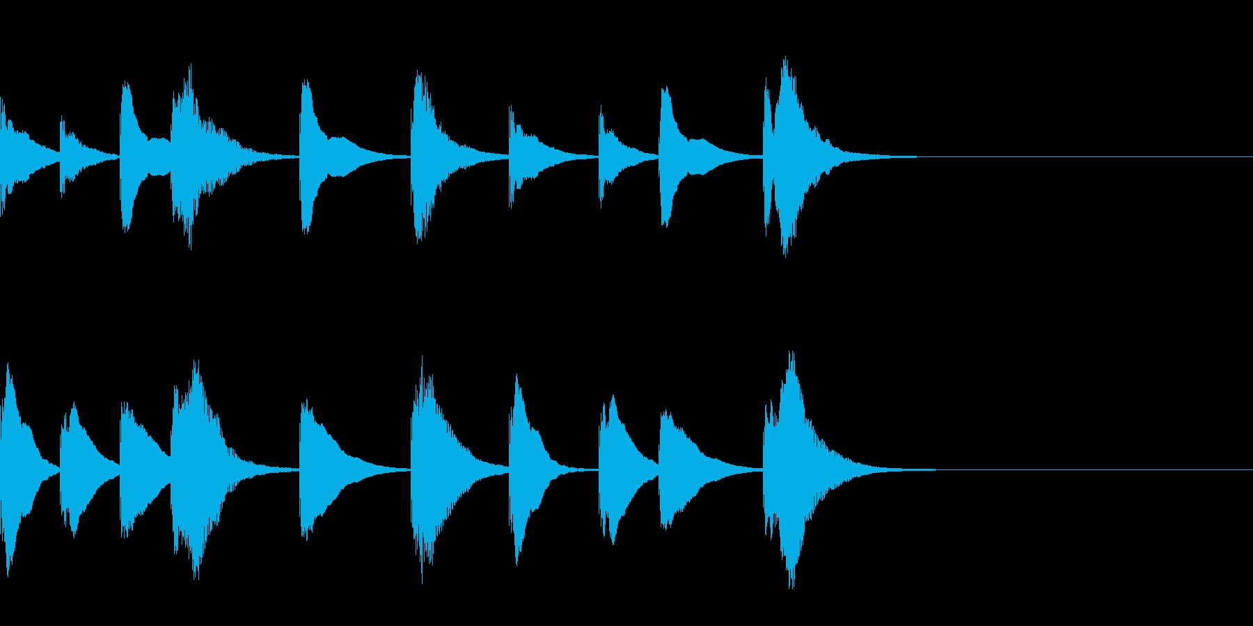 シロフォンの勇敢な5秒ジングルの再生済みの波形