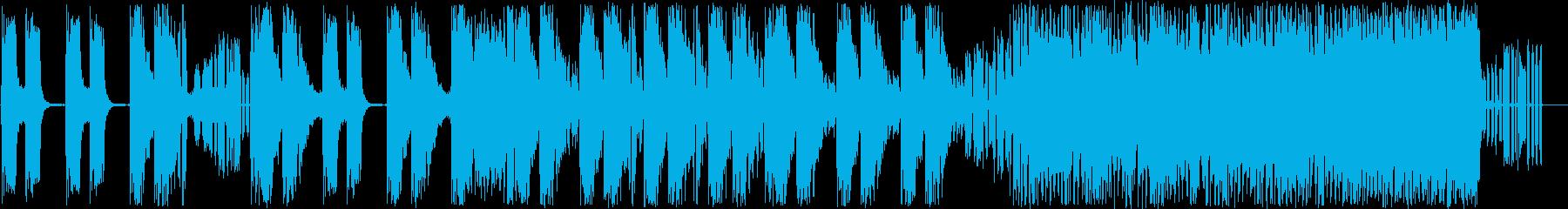 エレクトロニカな登場系ジングルの再生済みの波形