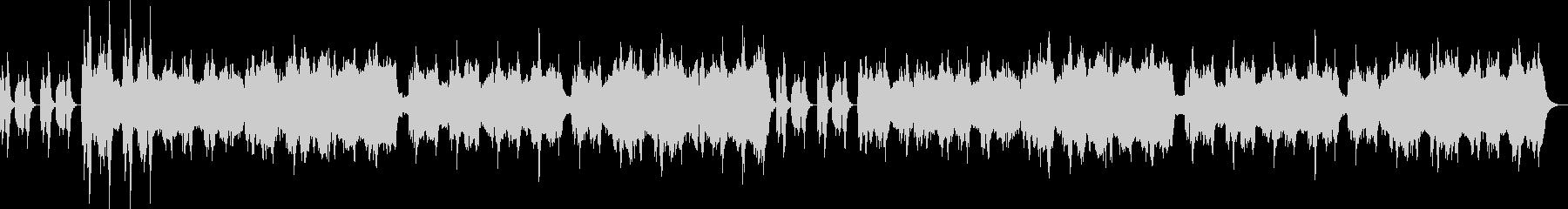 低音ストリングスとスネア刻み不穏なBGMの未再生の波形