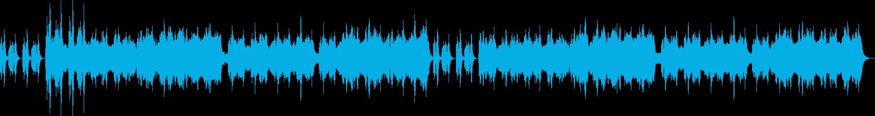 低音ストリングスとスネア刻み不穏なBGMの再生済みの波形