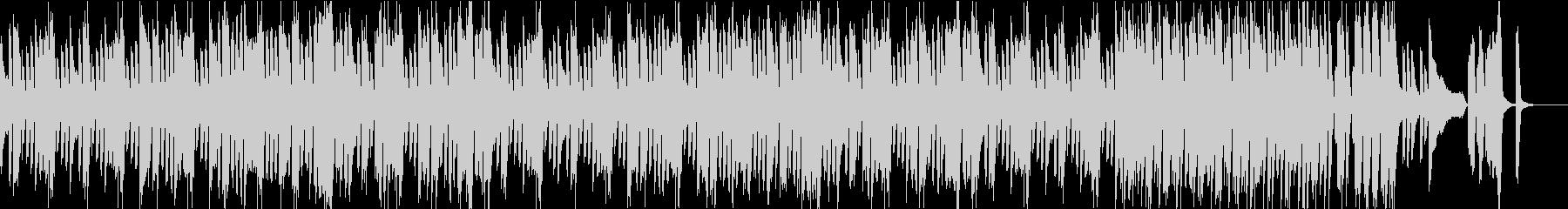 ピアノと和太鼓の軽快コミカルな和風BGMの未再生の波形