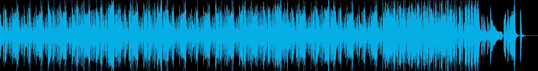 ピアノと和太鼓の軽快コミカルな和風BGMの再生済みの波形