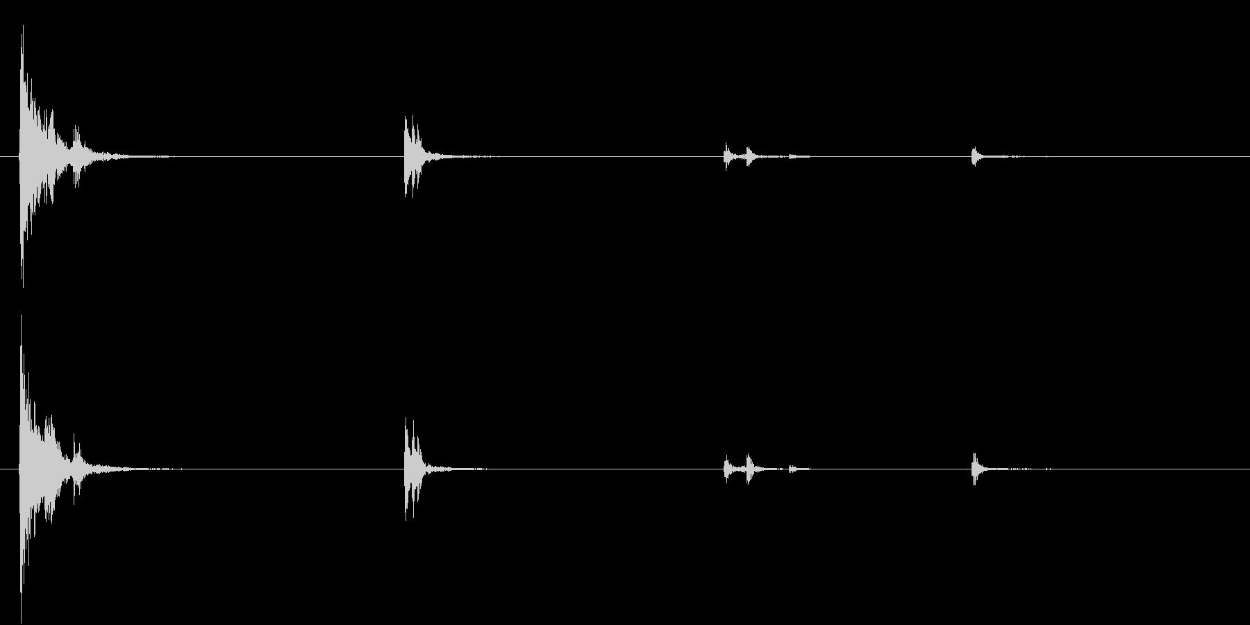 【生録音】お箸の音 35 迷い箸の未再生の波形