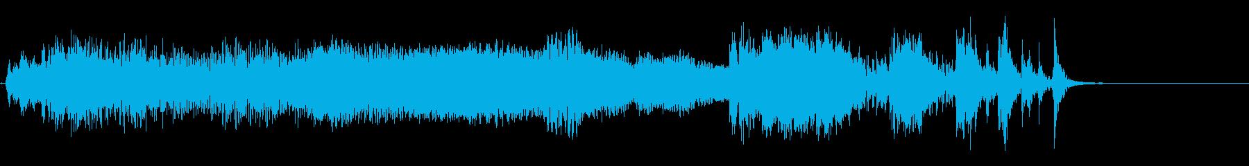 深くて重いうめき声の再生済みの波形