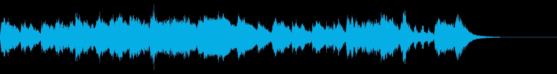 気品のあるストリングスとピアノのBGMの再生済みの波形