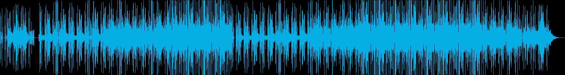 HIPHOPトラック洋楽風の再生済みの波形