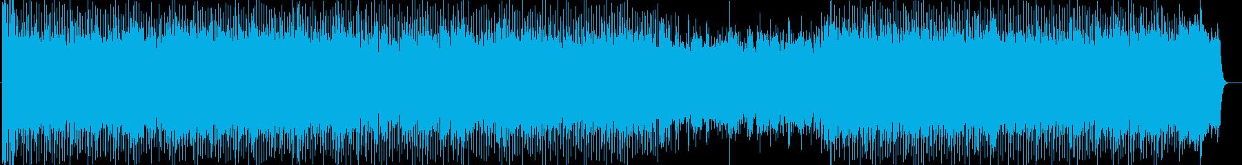 元気のあるシンセサイザーの曲の再生済みの波形