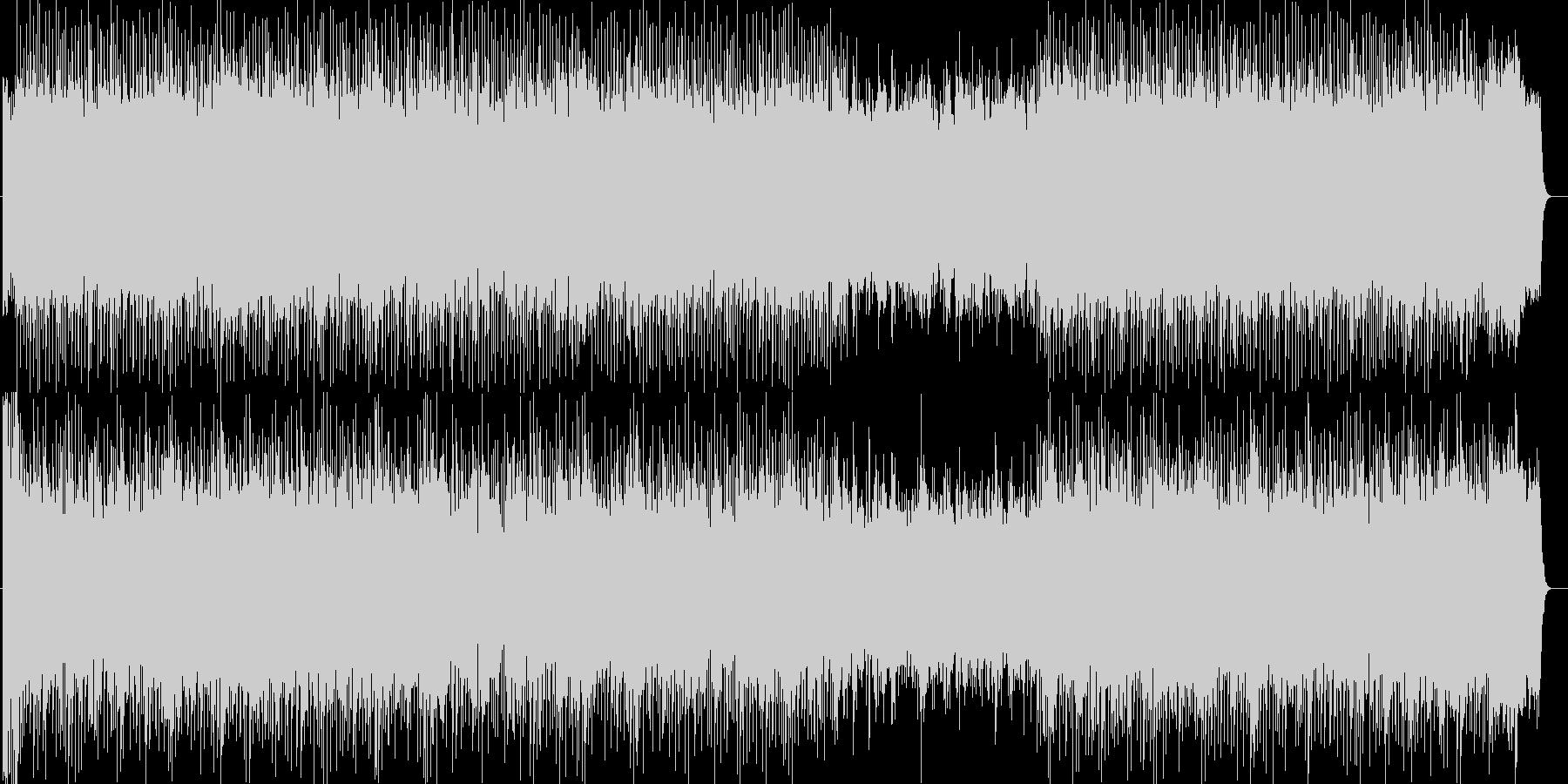 元気のあるシンセサイザーの曲の未再生の波形