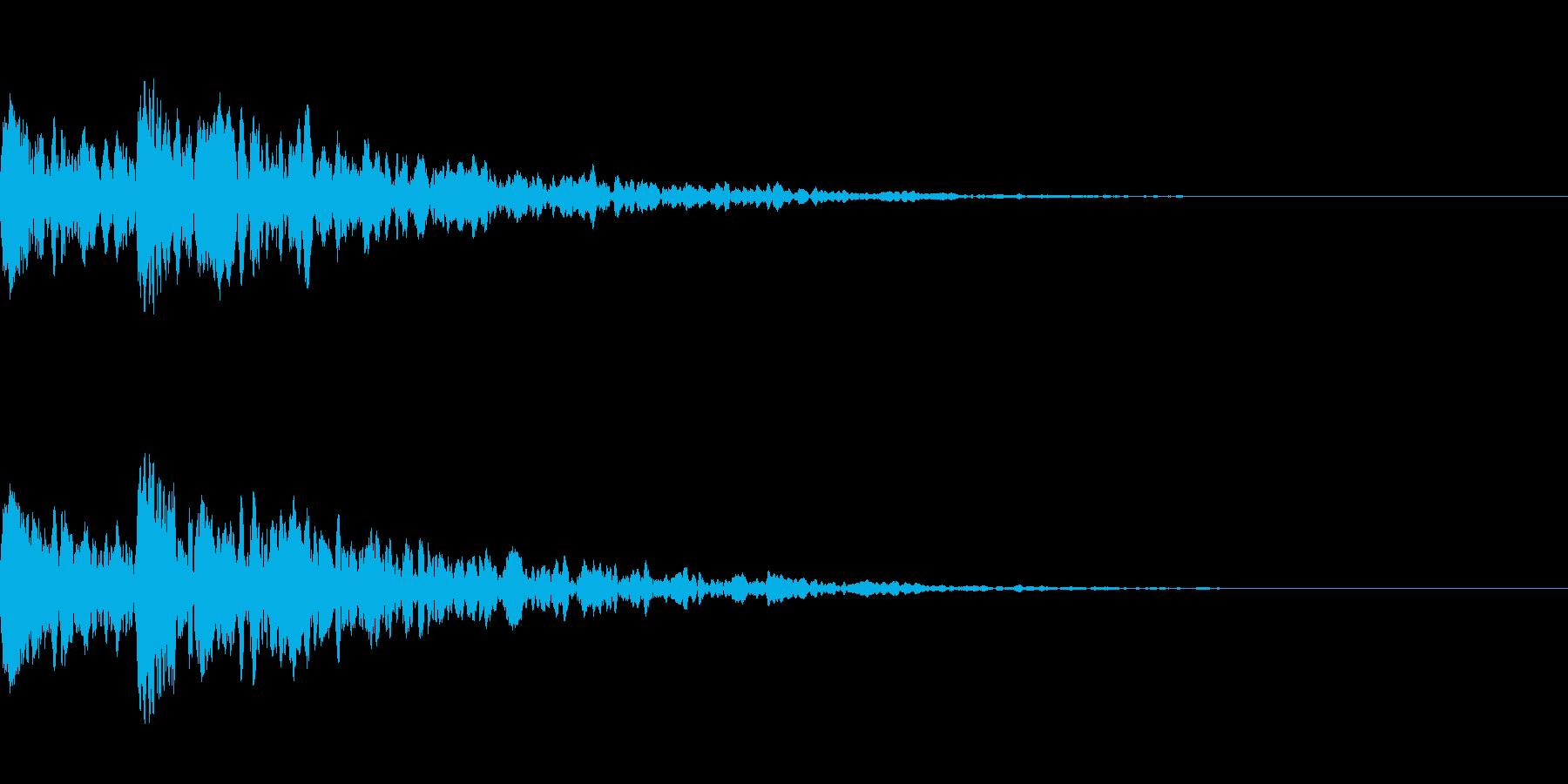 カカッ 拍子木の再生済みの波形