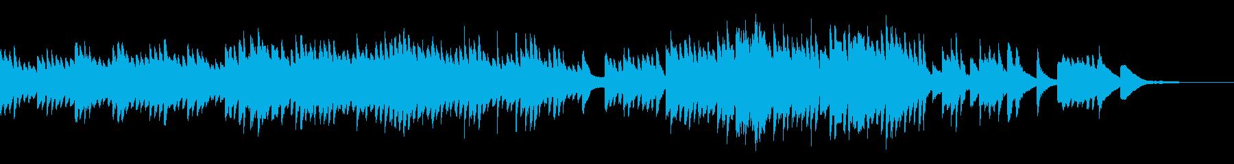心温まる優しいピアノソロBGMの再生済みの波形