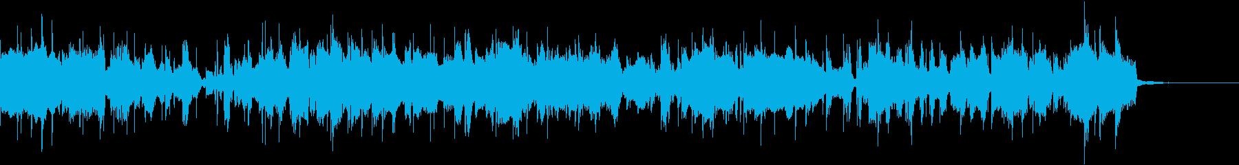 ソプラノサックスの軽快なフュージョンの再生済みの波形