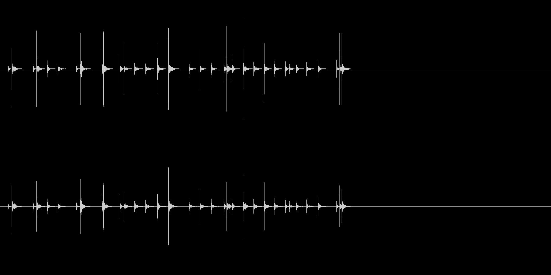 小木魚木章7歌舞伎黒御簾下座音楽和風日本の未再生の波形