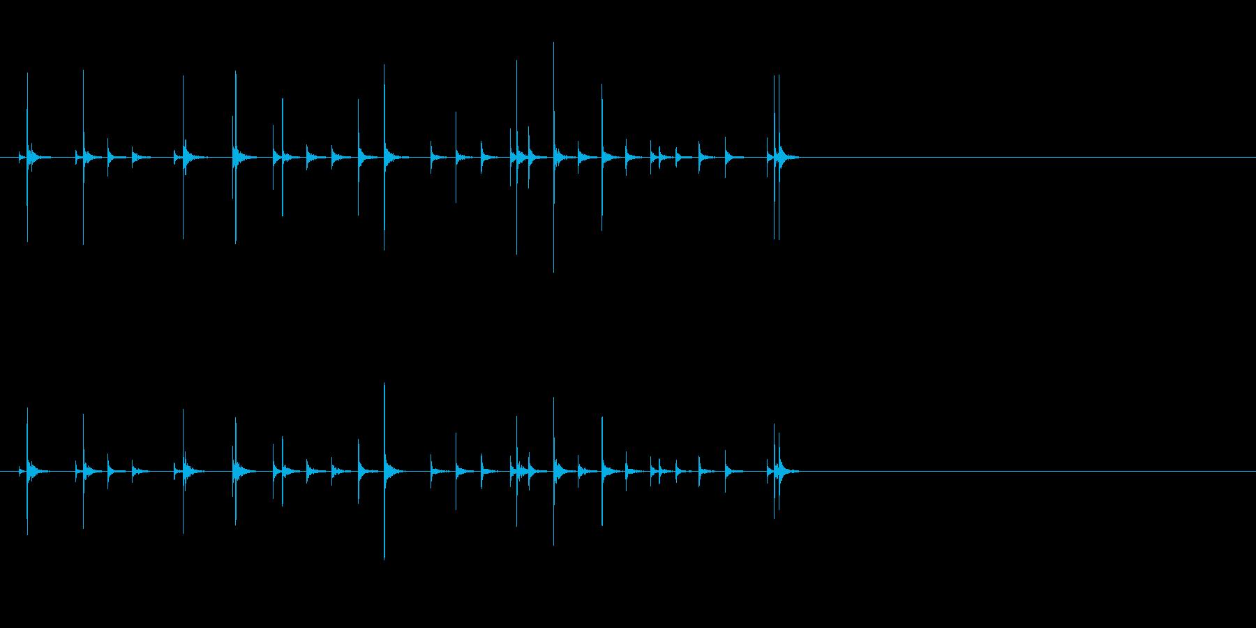小木魚木章7歌舞伎黒御簾下座音楽和風日本の再生済みの波形