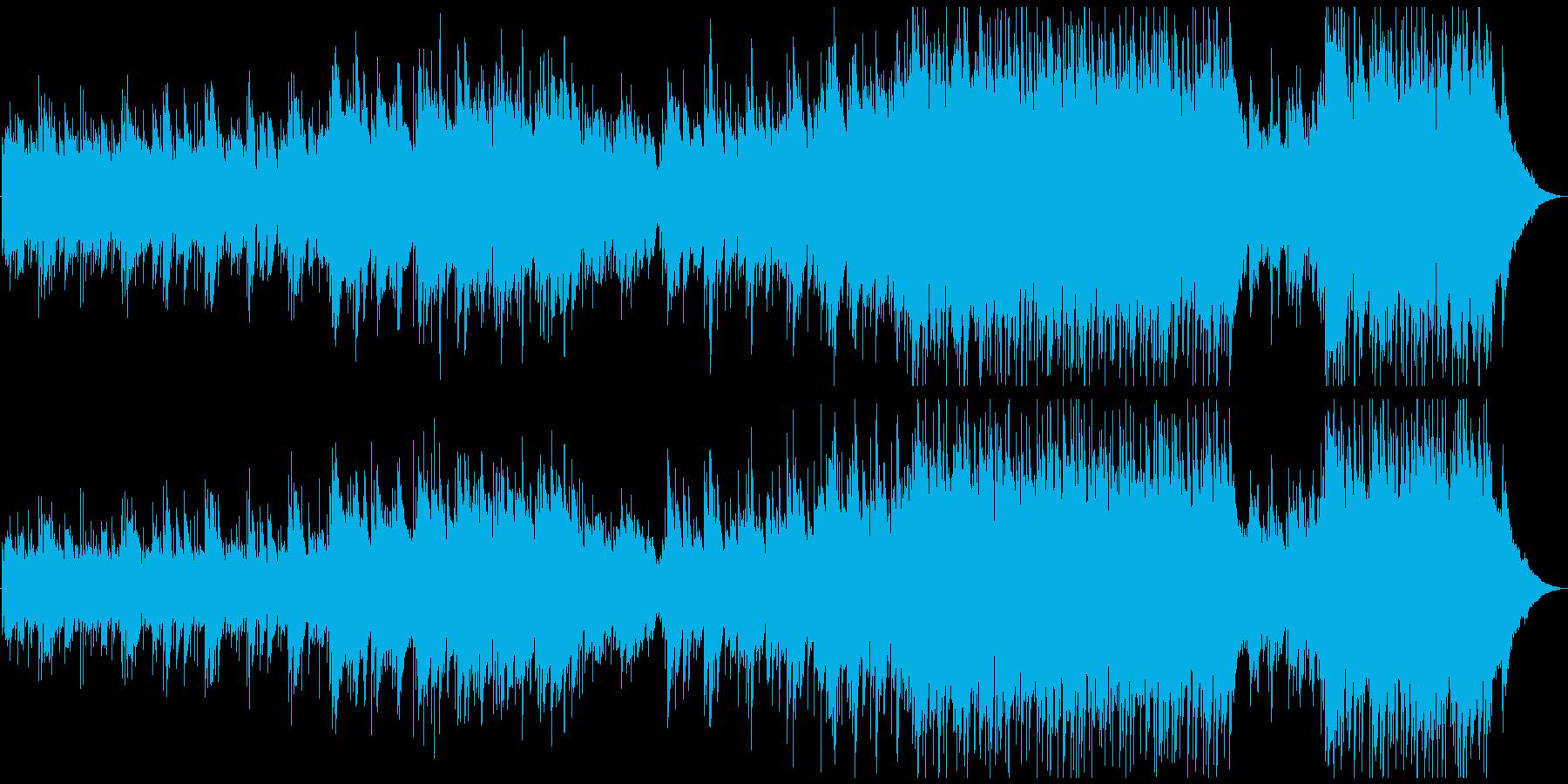 明るくほのぼのとしたアコースティックの再生済みの波形