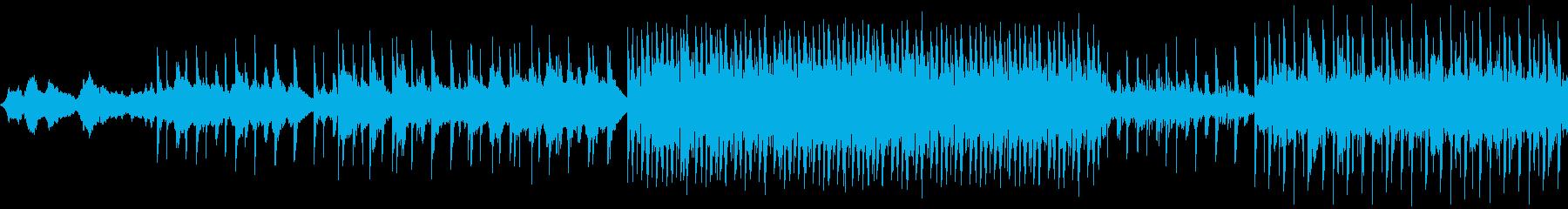ミステリアスでひっそりしたメロディーの再生済みの波形