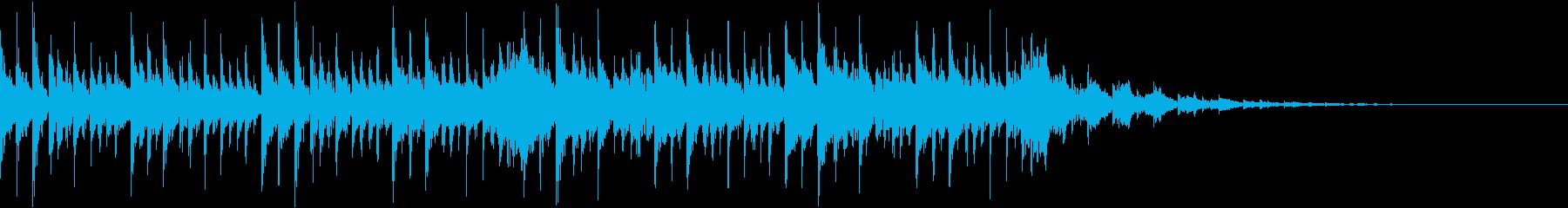 ふわふわシンセとグリッチノイズのジングルの再生済みの波形