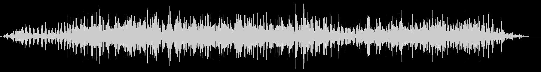 エイリアンクリーチャーグロールの未再生の波形