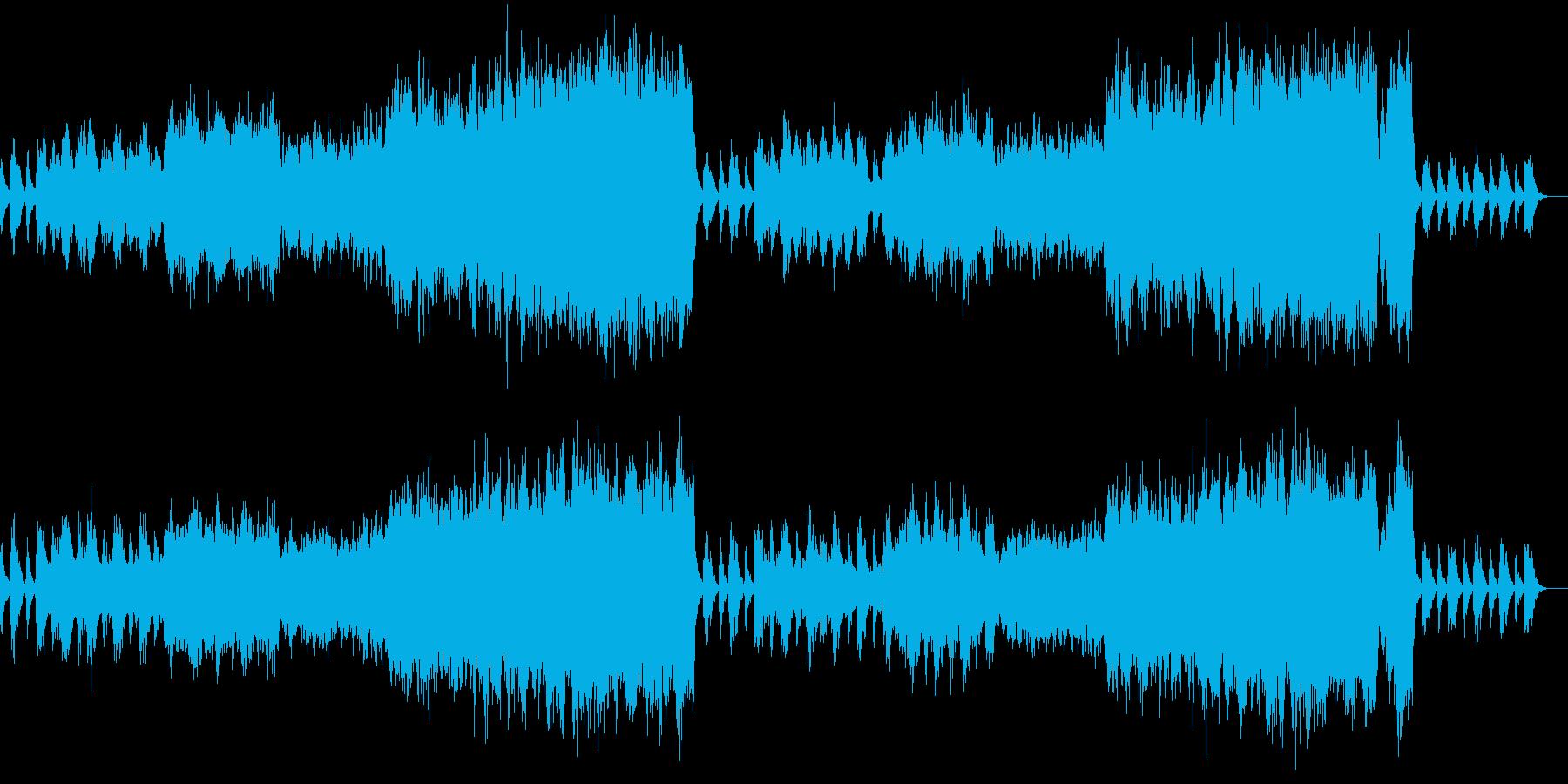 ちょっと古い感じの音像のクリスマス曲の再生済みの波形