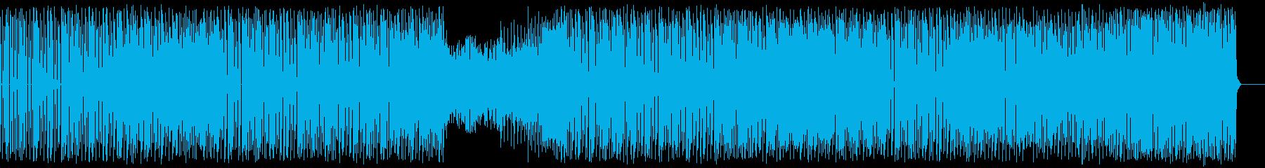 重量感のあるテクノの再生済みの波形