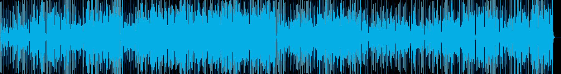 ご機嫌なサックスインスト音楽の再生済みの波形