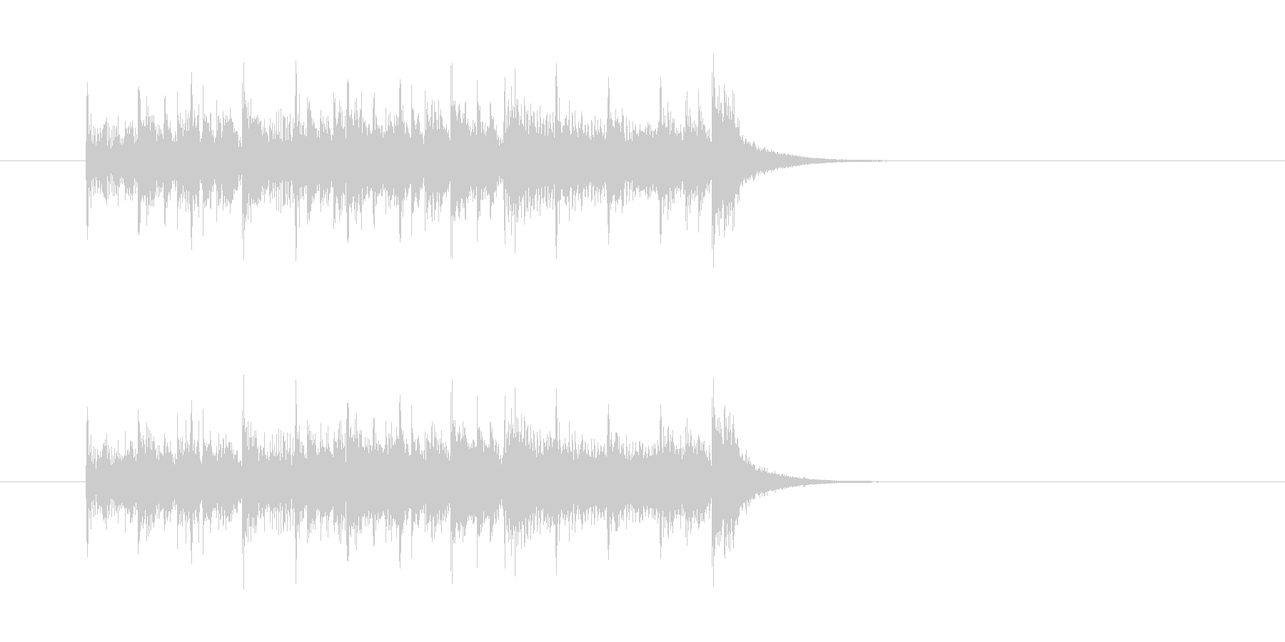 ジングル(ゴージャスなアンサンブル風)の未再生の波形