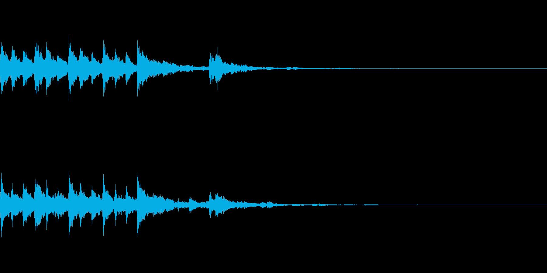 癒し系イントロ・可愛い・綺麗な音色の再生済みの波形