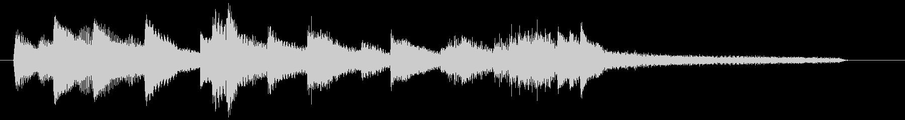 チャプター・場面転換等にピアノジングルOの未再生の波形