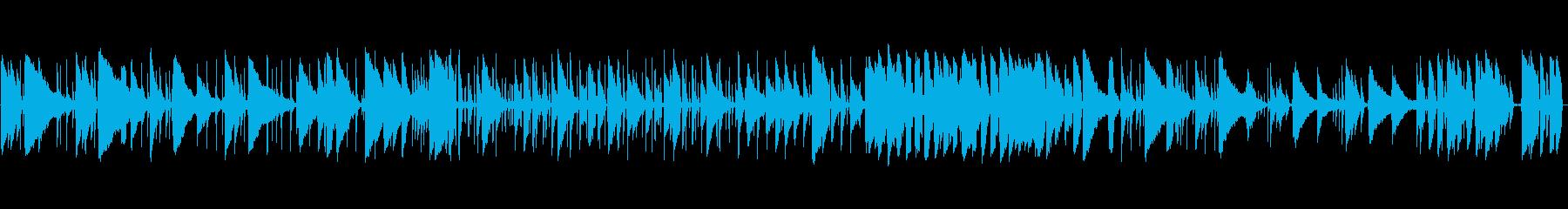けだるいテンポの、アコギのブルースの再生済みの波形