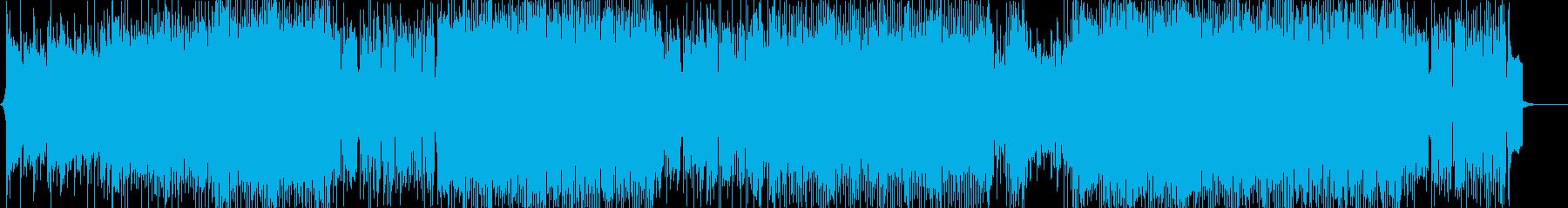 中盤あたりに出てくる敵の電子音楽の再生済みの波形