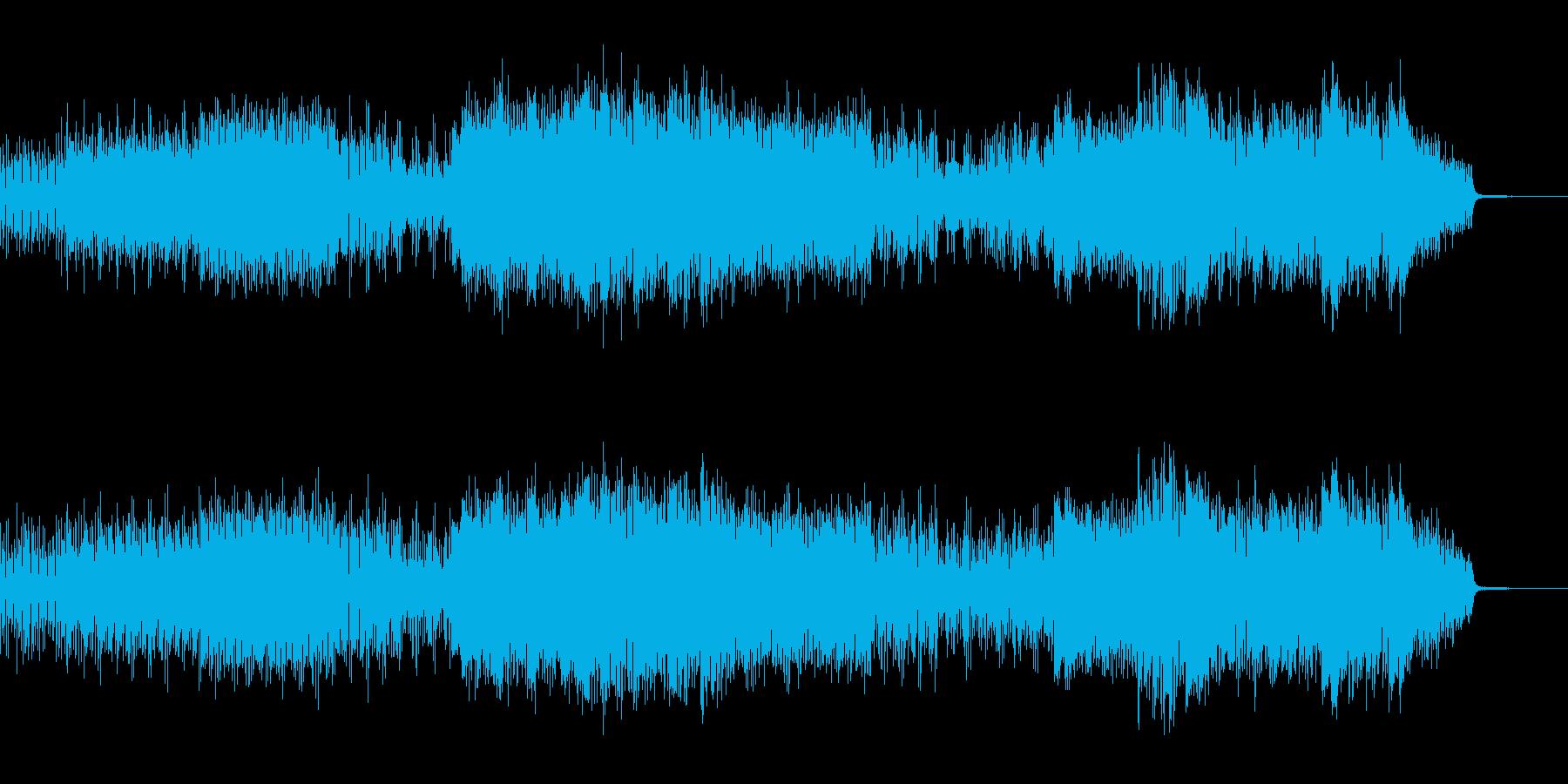 重低音で激しく幻想的なテクノの再生済みの波形