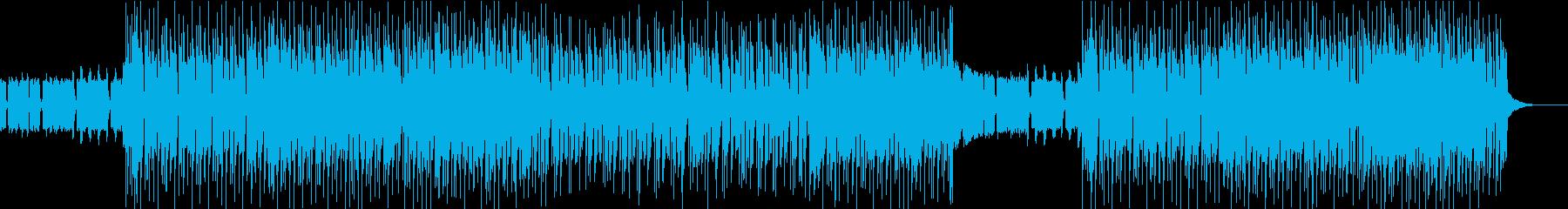 アップテンポで明るく軽快なポップロックの再生済みの波形