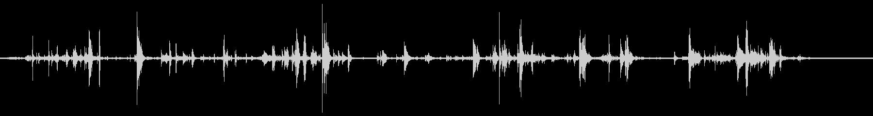 ドアキームーブメントガラガラの未再生の波形